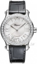 Chopard Happy Sport Silver colored/Leather Ø36 mm