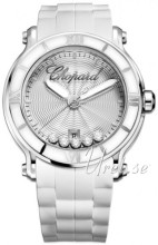 Chopard Happy Sport Silver colored/Rubber Ø42 mm