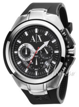Emporio Armani Exchange Chronograph Black/Rubber Ø46.00 mm