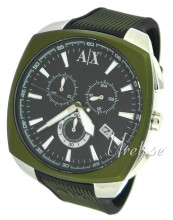 Emporio Armani Exchange Chronograph Black/Rubber