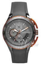 Emporio Armani Exchange Chronograph Grey/Rubber Ø46.00 mm