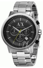 Emporio Armani Exchange Chronograph Black/Steel Ø45.00 mm