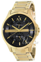 Emporio Armani Exchange Black/Yellow gold toned steel Ø46.00 mm