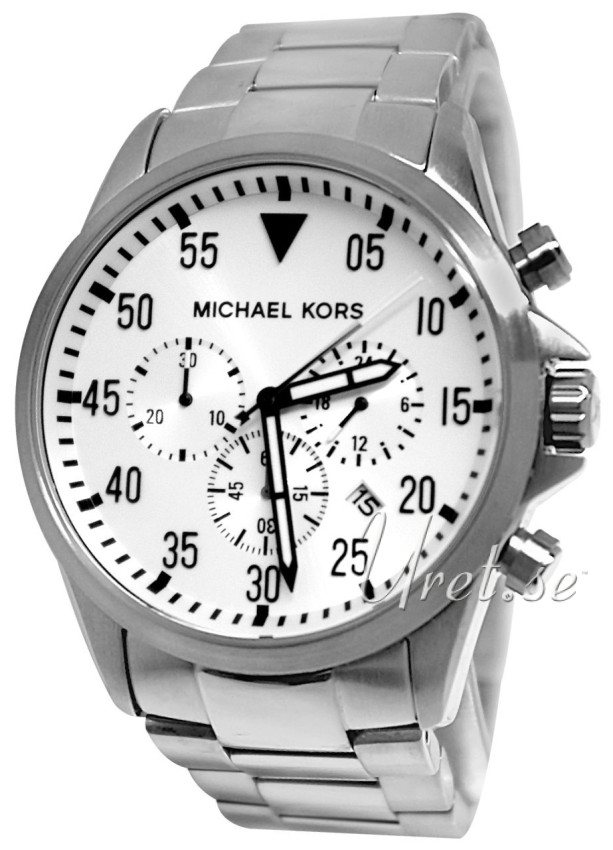 mk8331 michael kors chronograph thewatchagency™ michael kors chronograph white steel Ø45 mm